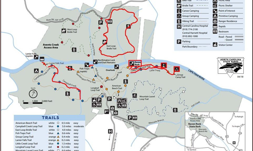 State Park Nc Map.The Park Is Open Friends Of Raven Rock